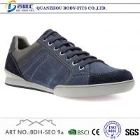 China Mens Black Casual Sneakers Casual Work Shoes Leather on sale
