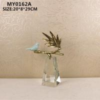 Buy cheap Ceramic craft Ceramic bird and glass base from wholesalers