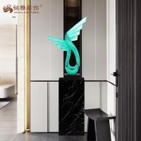Quality Resin craft Wing shape sculpture high quality resin home decor for sale