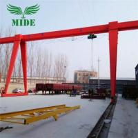 Buy cheap Single Girder Gantry Crane 16 ton 18m height electric gantry crane from wholesalers