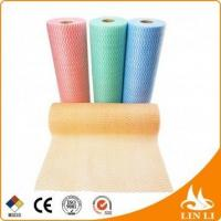 China for optical use 65gsm blue disposable spunlace non woven industrial wipes roll on sale