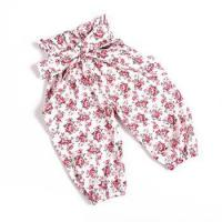 China Organic Cotton kids Clothes Baby Girls Flower Printing Floral Harem Girls Wear on sale