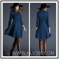 China Women Fashion Style Winter Wool Cotton Coat Dress China Online Wholesale on sale