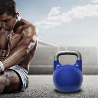 Quality PVC Rubber Coated Kettlebell Set for sale