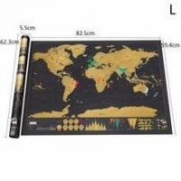 Realiable Quality Premium Scratch Off World Map Black Colors Scratch Travel Map