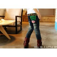 China Boy's denim jeans pants with fleece interior on sale