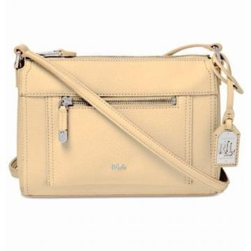 Buy NWT $118 Lauren Ralph Lauren Womens Straw Tan Paley Leigh Crossbody Purse Bag at wholesale prices