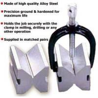 Quality Steel Vee Blocks with Clamps for sale