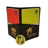 Football Soccer Referee Wallet with Red and Yellow Card + Game Coin