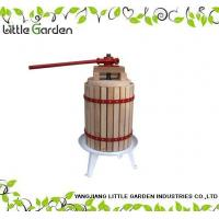 Quality 18L Solid Wood Basket Fruit Press for sale