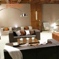 Quality China Foshan Modern Hotel Lobby Furniture Leather Sofa With Table For Sale for sale