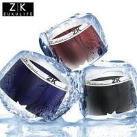 China ZK brand custom ice silk hole for men 3D Boxer sexy men's underwear on sale
