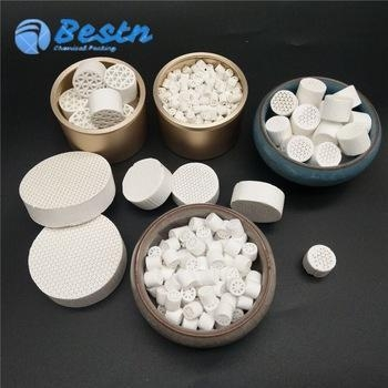 Buy Ceramic honeycomb catalyst carrier as Oil refining catalytic and protection agent at wholesale prices