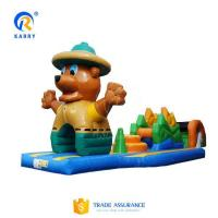Quality Bespoke bear obstacle courses water pool inflatable floating water park adventure games for sale