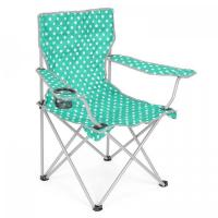 China Folding Camping Chair Lightweight Beach Festival Outdoor Travel Seat Polka Dot on sale