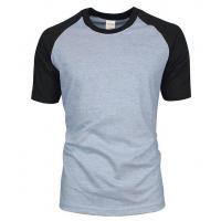Quality Mens custom gym raglan sleeve t shirt for sale
