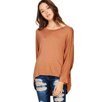 Buy cheap Womens T Shirt Oversize 75% Cotton 25% Polyester T Shirt O-Neck T Shirt from wholesalers