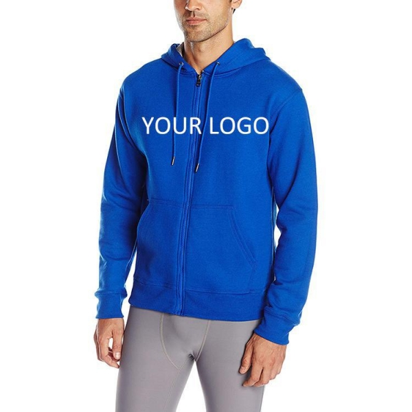 China Custom comfort high quality hoodie for men's with zipper 2019