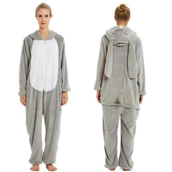 China rabbit hoodies fleece plus size unicorn onesie pajamas
