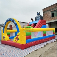 Quality Super heroes multi play inflatable fun play park for sale