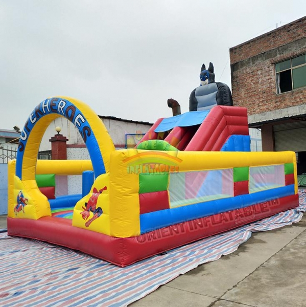 China Super heroes multi play inflatable fun play park