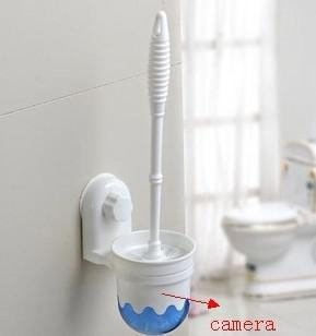 China 1280X960 Toilet Brush bathroom spy Camera With Motion Detection and Remote Control 16GB
