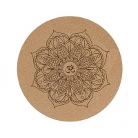 Quality Rounded Cork & Natural Rubber Yoga Mat for sale