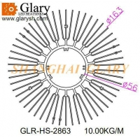 Buy cheap GLR-HS-2863 56mm round aluminum extruded heatsink from wholesalers