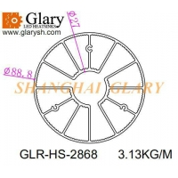 Buy cheap GLR-HS-2868 88mm aluminum extrusion profile heatsink from wholesalers