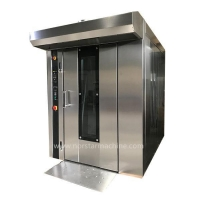 Quality 64 trays bakery production line diesel rotary rack oven for sale