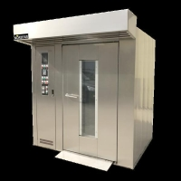 Quality 32 trays rotary rack oven RIELLO burner bread rotary oven for sale