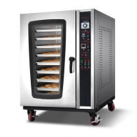 Quality 10 trays gas bakery bread baking convection oven for sale