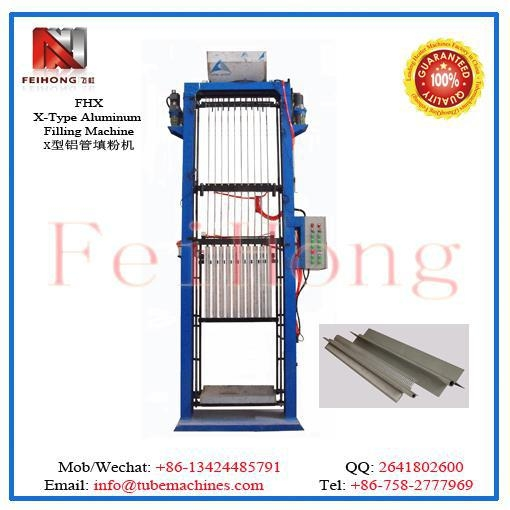 China X shape heater Aluminum Filling Machine