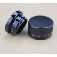 Buy cheap Vape Accessories 5ml/9ml black glass jar with black childproof cap from wholesalers