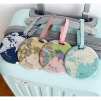 Buy cheap New Design Wholesale Round World Map Printed Plastic Pvc Luggage Tag from wholesalers
