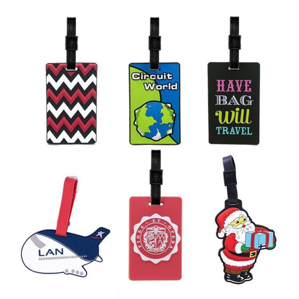 China Promotional Custom Logo 3d Travel Soft Pvc Luggage Tag,Personalized Rubber Airline Bag Tags