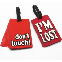 Buy cheap Free Sample Custom Silicon Soft Pvc Rubber Travel Personalised Luggage Tag Bag Tags from wholesalers