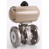Buy cheap Pneumatic stainless steel lining fluorine ball valve from wholesalers