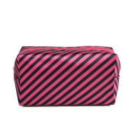 Fashionable polyester waterproof striped lady's make-up bag
