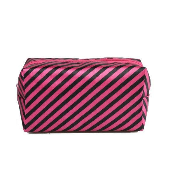Buy Fashionable polyester waterproof striped lady's make-up bag at wholesale prices