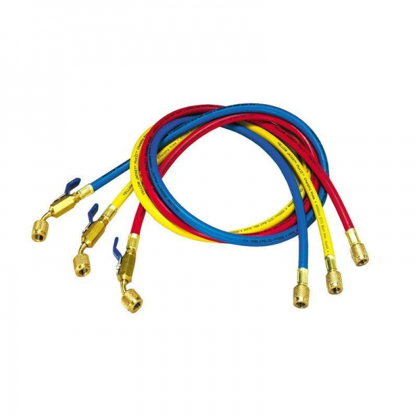 "Buy 36"" Inch Premium Refrigerant Charging Hose with Ball Valve in Red , Yellow , Blue at wholesale prices"