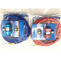 Quality Red and Blue Color r134a refrigerant hose with Brass Fittings and Charge couplers for sale