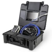 Quality 30M Fiberglass push rod sewer inspection camera for leak detection DVR recording for sale