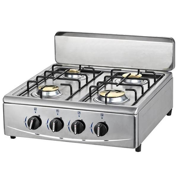 Buy Four Burners Table Gas Stoves with Brass burner & Aluminum base at wholesale prices