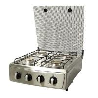 Quality Four Brass Burners Table Gas Stoves with Glass Cover for sale