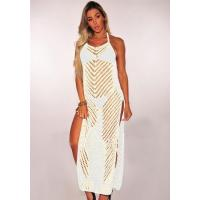 Quality apricot Casual Sexy & Club HALTER Sleeveless Halter Pencil skirt Long Maxi Dresses for sale