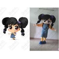Quality Plaid skirt girl mascot costumes for sale