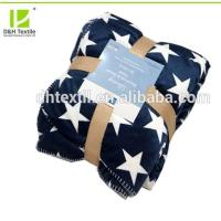 Buy cheap 2 Ply Wholesale Fashion Custom Star Print Fleece Blanket Winter from wholesalers