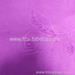 China 100% polyester Embossed fabric