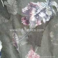 Quality 100% polyester burnout chiffon printing fabric for sale